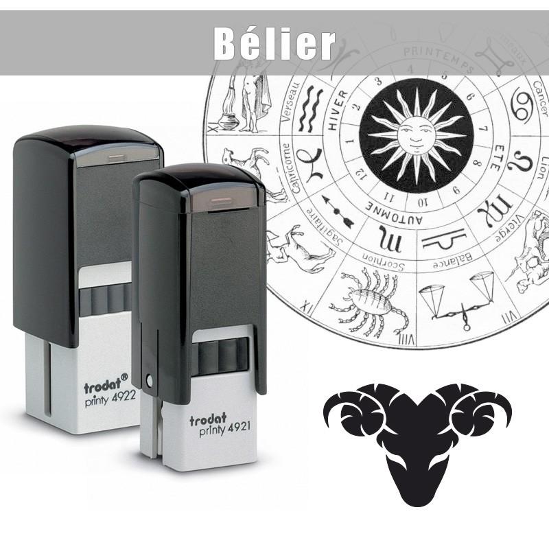 tampon encreur signe du zodiaque le b lier. Black Bedroom Furniture Sets. Home Design Ideas