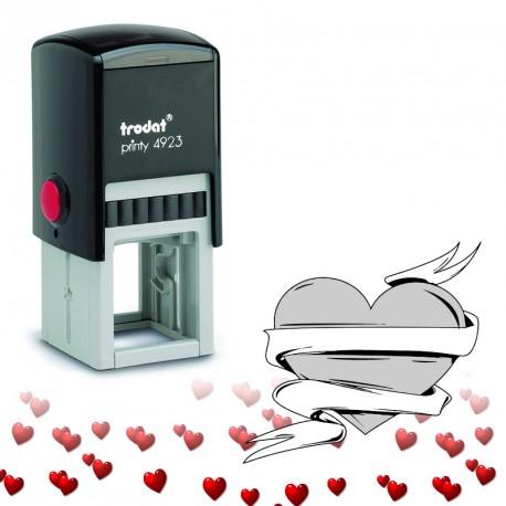 Tampon encreur Saint Valentin : Coeur