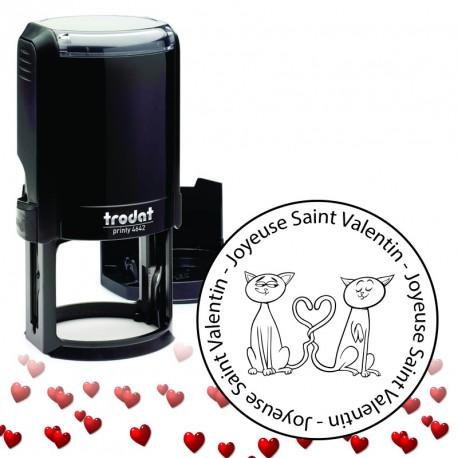 Tampon encreur Saint Valentin : Love Cats