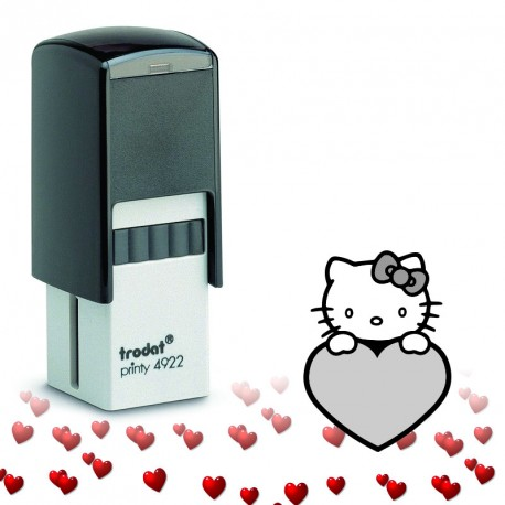 Tampon encreur Saint Valentin : Kitty