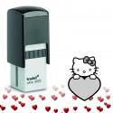"""Tampon encreur Saint-Valentin """"Hello Kitty"""""""