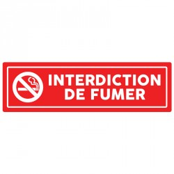 "Plaque ""Interdiction de fumer"""