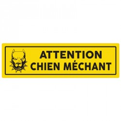 "Plaque ""Attention chien méchant"""