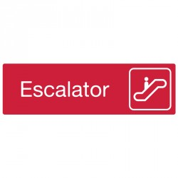 "Plaque ""Escalator"""