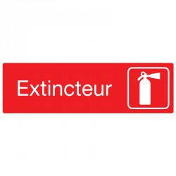 "Plaque ""Extincteur"""