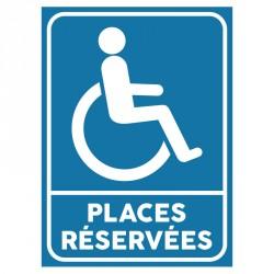 Plaque stationnement handicapés : Places réservées