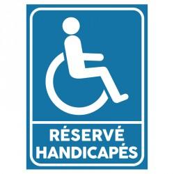 Plaque stationnement handicapés : Réservé handicapés