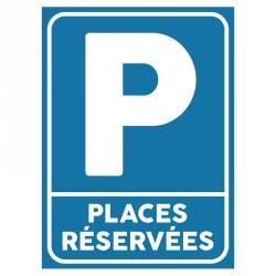 Plaque stationnement : Places réservées