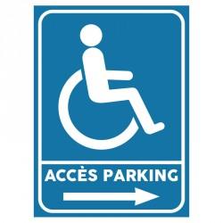 Plaque stationnement handicapés : Accès parking 1