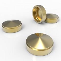 Lot de 4 cabochons dorés - 15mm