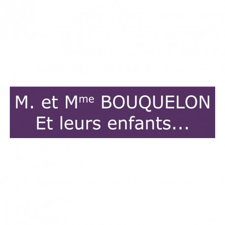 plaque de boite aux lettres violet. Black Bedroom Furniture Sets. Home Design Ideas
