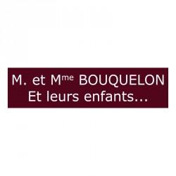 Plaque de boite aux lettres - Bourgogne