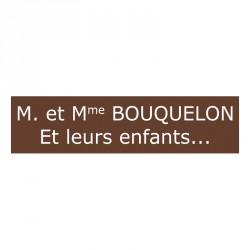 Plaque de boite aux lettres - Marron