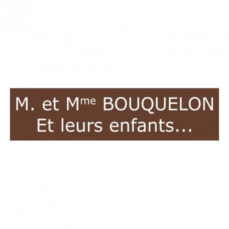 Plaque De Boite Aux Lettres Marron