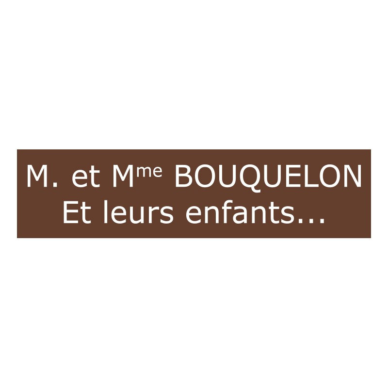 plaque de boite aux lettres marron. Black Bedroom Furniture Sets. Home Design Ideas