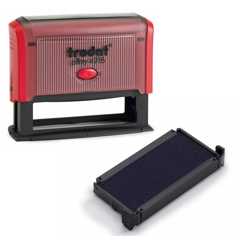 recharges d encre pour tampon de bureau trodat printy 4918. Black Bedroom Furniture Sets. Home Design Ideas