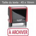 """Tampon Trodat XPrint 4912 """"à archiver"""""""