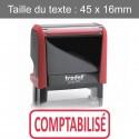 """Tampon Trodat XPrint 4912 """"comptabilisé"""""""