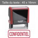 """Tampon Trodat XPrint 4912 """"confidentiel"""""""
