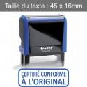 """Tampon Trodat XPrint 4912 """"certifié conforme à l'original"""""""