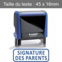 "Tampon Trodat XPrint 4912 ""signature des parents"""