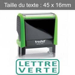 """Tampon XPrint """"lettre verte"""""""