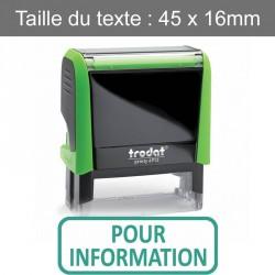 "Tampon Trodat XPrint 4912 ""pour information"""