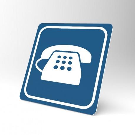 Plaque signalétique carrée : Téléphone