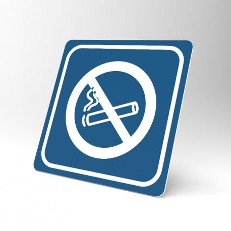 Plaque signalétique carrée : Interdiction de fumer