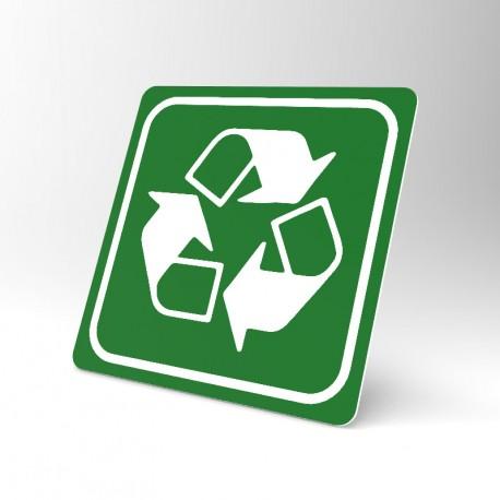 Plaque signalétique carrée : Recyclage