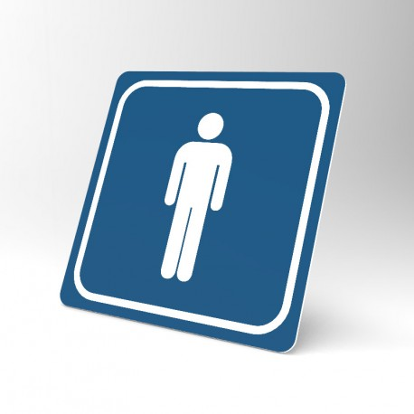 Plaque signalétique carrée : Toilettes hommes