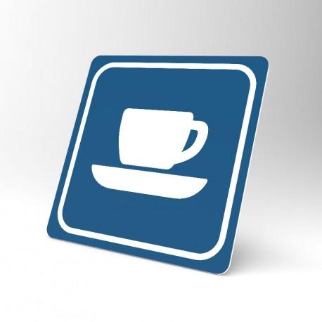 Plaque signalétique carrée : Cafétéria