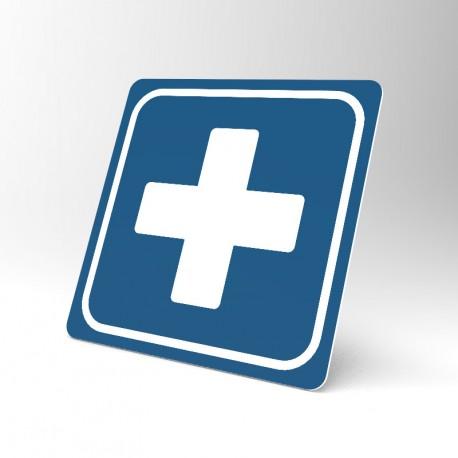 Plaque signalétique carrée : Premiers soins