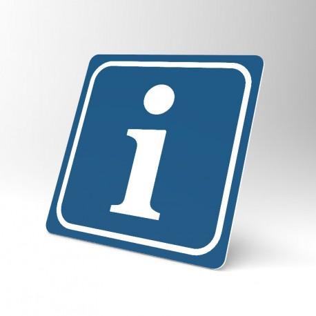 Plaque signalétique carrée : Information