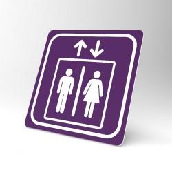 Plaque signalétique carrée : Ascenseur