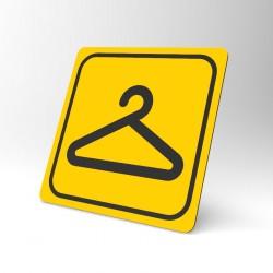 Plaque signalétique carrée : Vestiaire