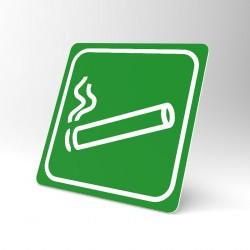Plaque signalétique carrée : Zone fumeur
