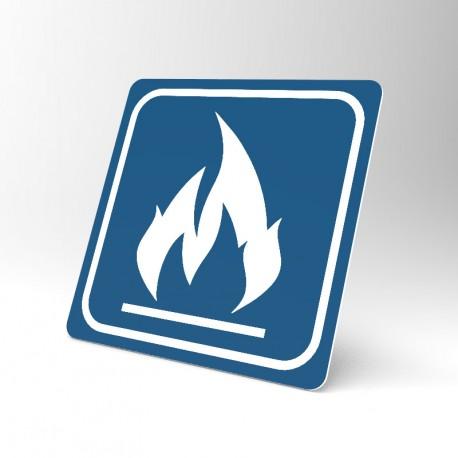Plaque signalétique carrée : Inflammable