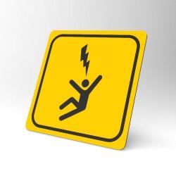 Plaque signalétique carrée : Risque électrique