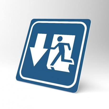 Plaque signalétique carrée : Issue de secours 3