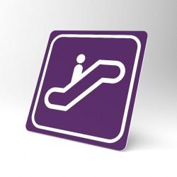 Plaque signalétique carrée : Escalator