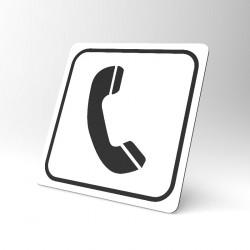 Plaque signalétique carrée : Téléphone 2