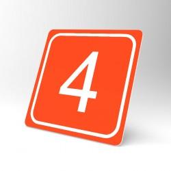 Plaque signalétique carrée : Chiffre 4