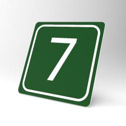 Plaque signalétique carrée : Chiffre 7