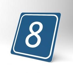 Plaque signalétique carrée : Chiffre 8