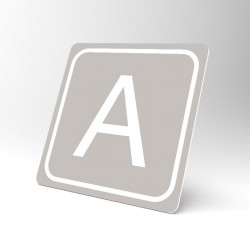 Plaque signalétique carrée : Lettre A