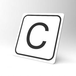 Plaque signalétique carrée : Lettre C
