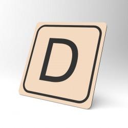 Plaque signalétique carrée : Lettre D