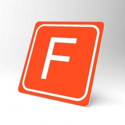 Plaque signalétique carrée : Lettre F