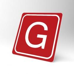 Plaque signalétique carrée : Lettre G